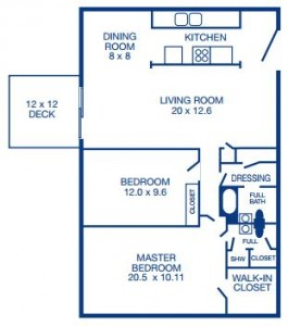 Two Bedroom/ End