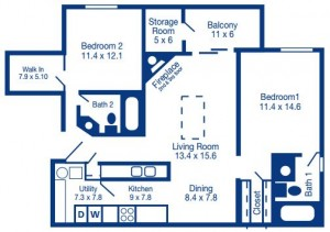 Two Bedroom/ Split
