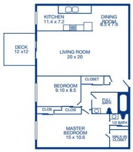 Two Bedroom/ Center