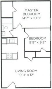 Two Bedroom (no balcony)